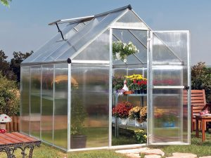 A standard traditional in-efficient greenhouse