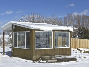 Energy-efficient greenhouse, chicken coop