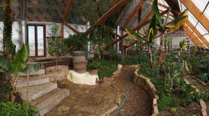 Greenhouse Rocket Mass Heater_Golden Hoof Farm