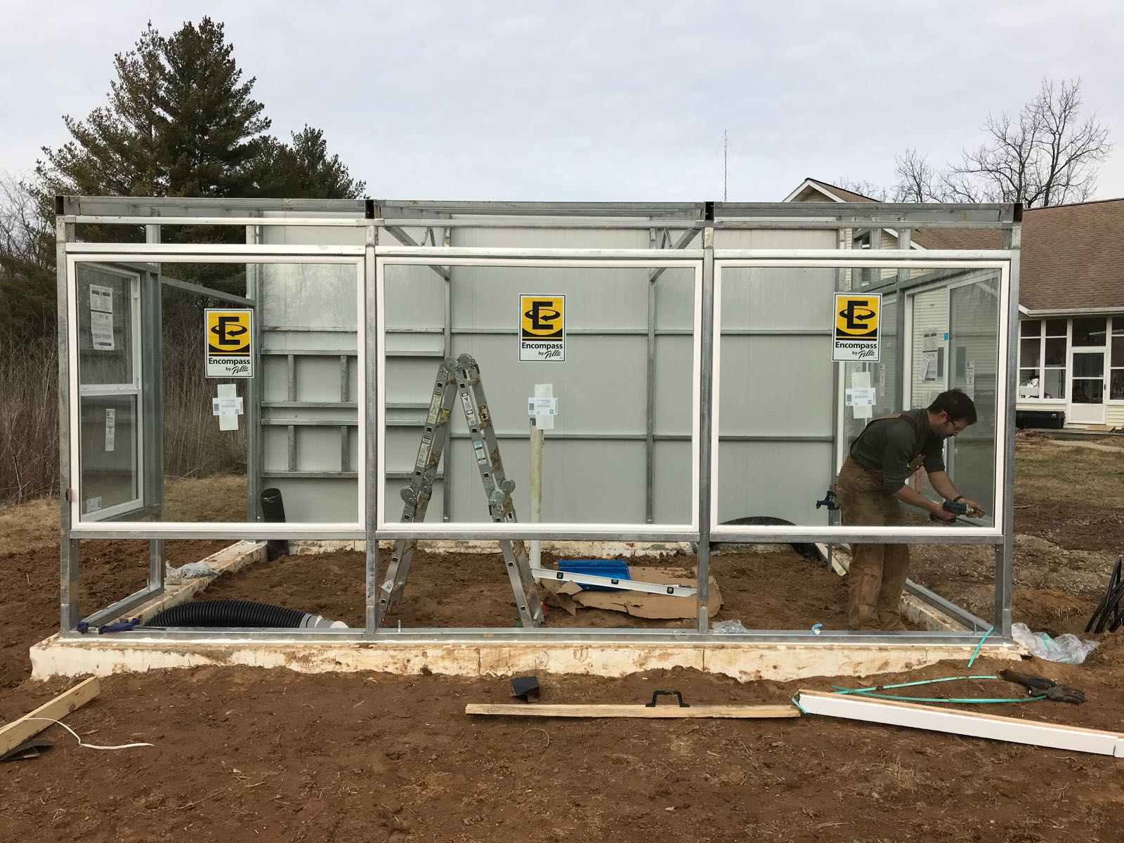 greenhouse in construction