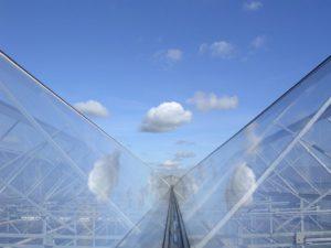 ETFE glazing on a greenhouse