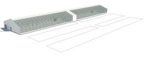 modular greenhouse render